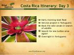 costa rica itinerary day 3
