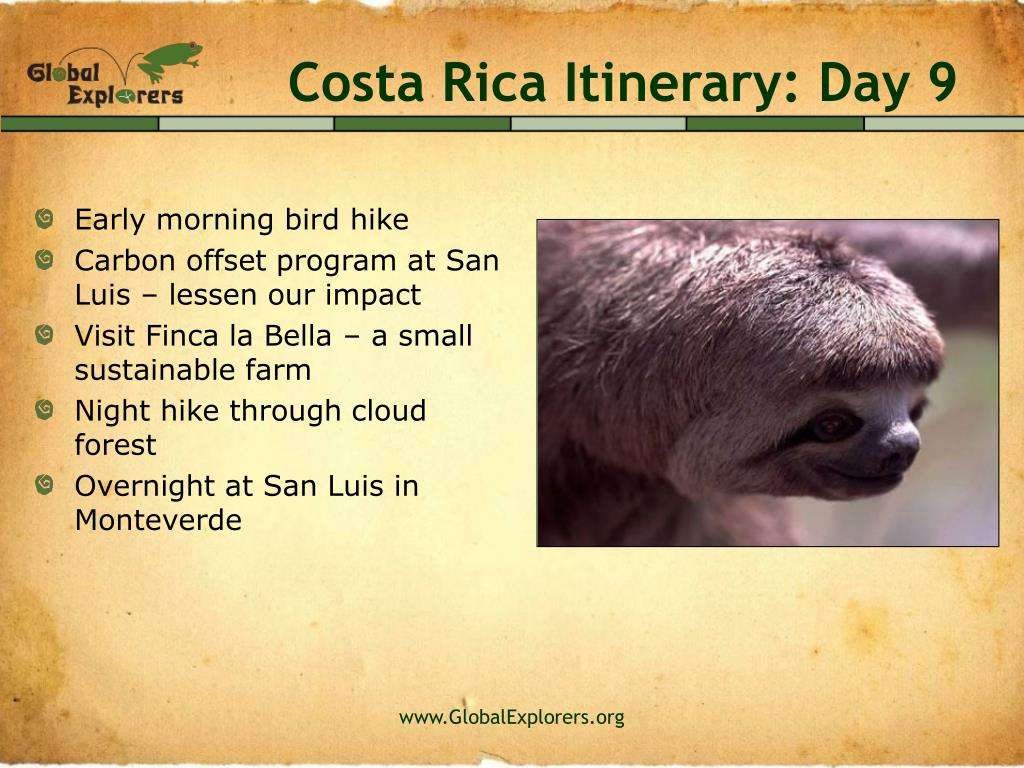 Costa Rica Itinerary: Day 9
