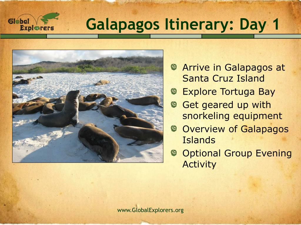 Galapagos Itinerary: Day 1