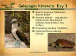 galapagos itinerary day 3