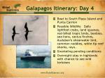 galapagos itinerary day 4