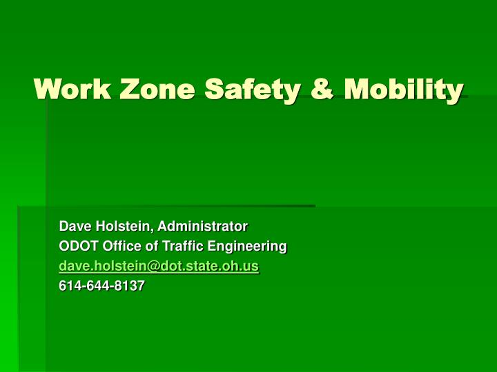 work zone safety mobility n.