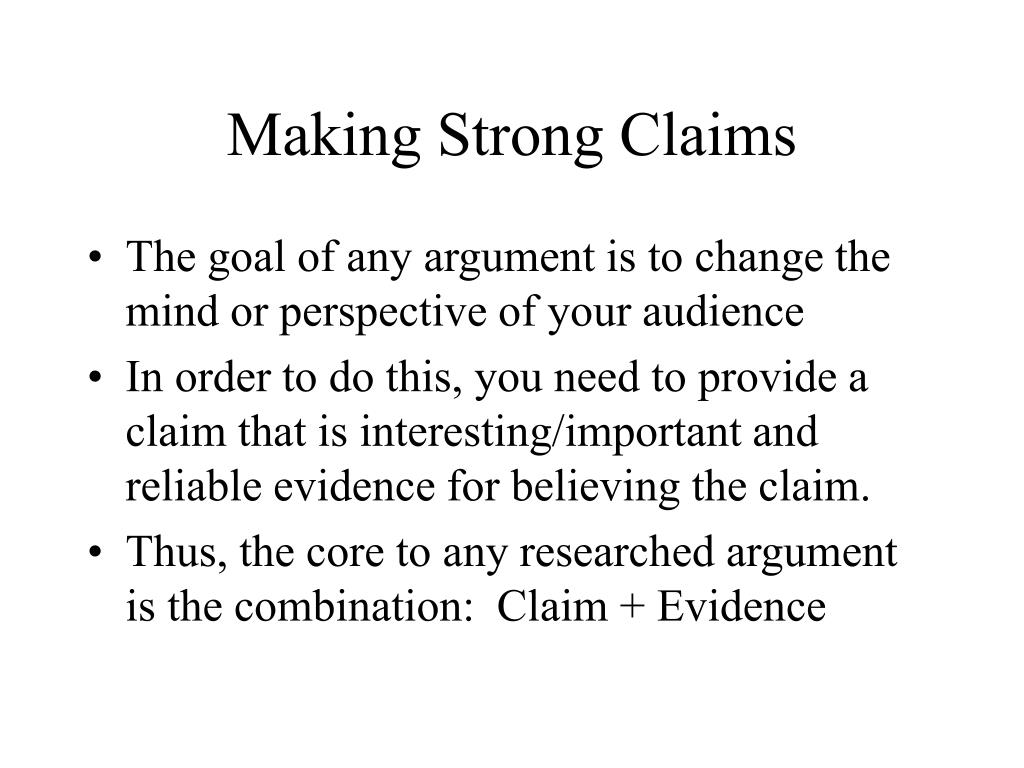 making strong claims l.