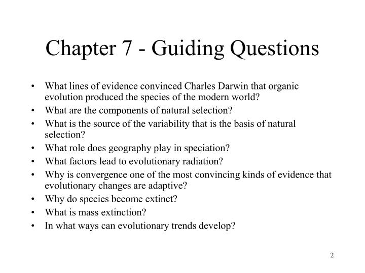 Chapter 7 guiding questions