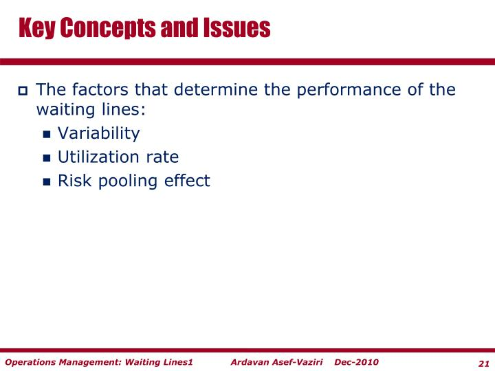 Key Concepts and Issues