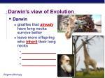 darwin s view of evolution