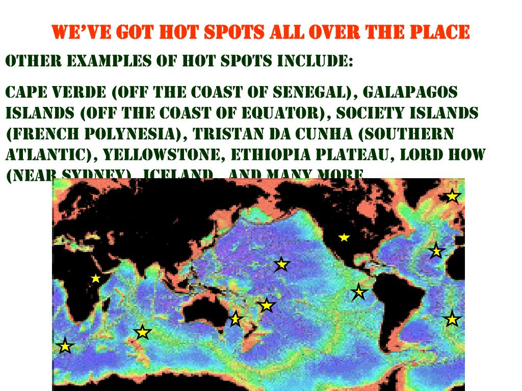 WE'VE GOT HOT SPOTS ALL OVER THE PLACE
