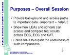 purposes overall session