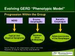 evolving gerd phenotypic model