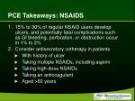 pce takeaways nsaids