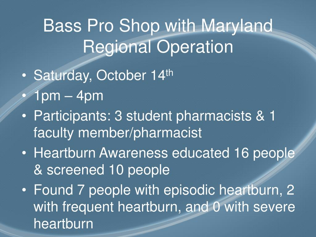 Bass Pro Shop with Maryland Regional Operation