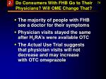 do consumers with fhb go to their physicians will ome change that74