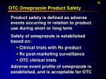 otc omeprazole product safety