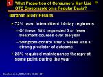 what proportion of consumers may use otc omeprazole on a regular basis63