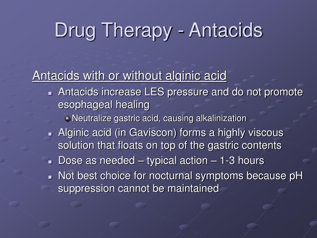 Drug Therapy - Antacids