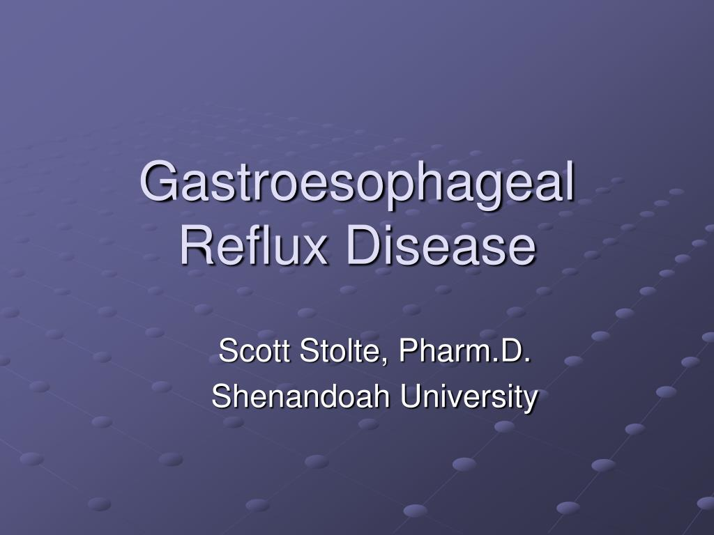 gastroesophageal reflux disease l.