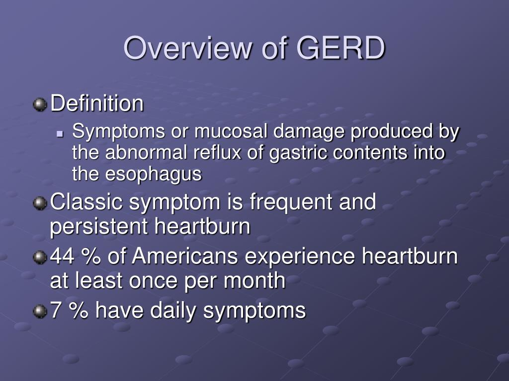 Overview of GERD