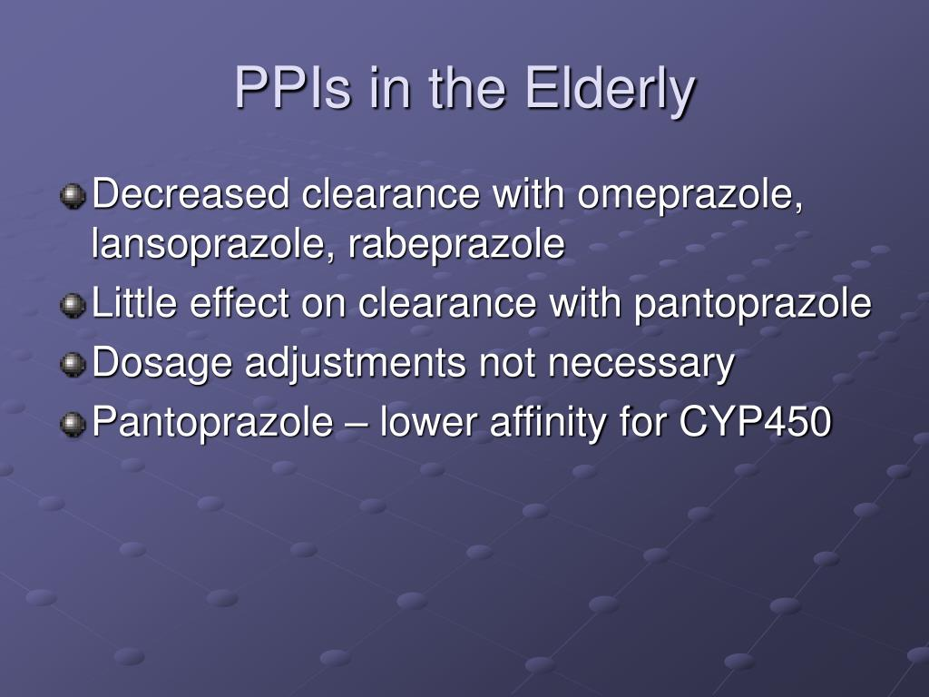 PPIs in the Elderly