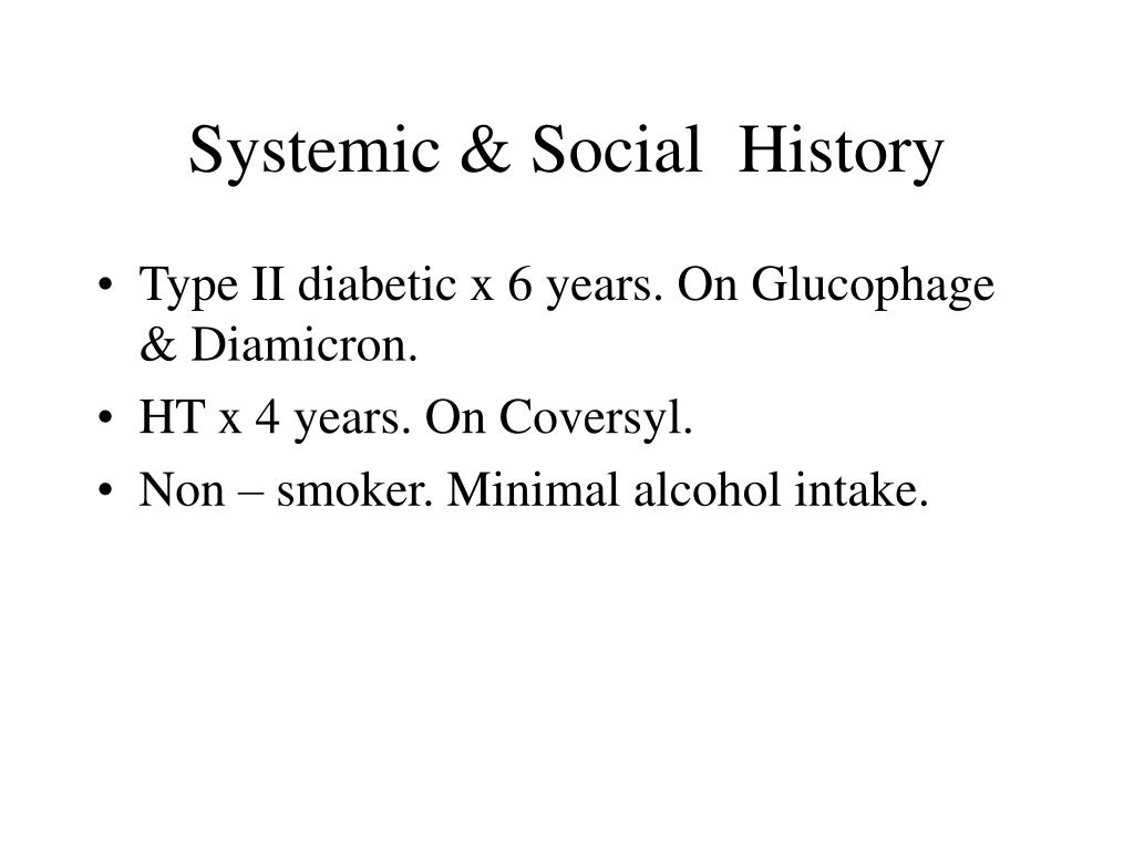 Systemic & Social  History