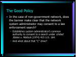 the good policy4