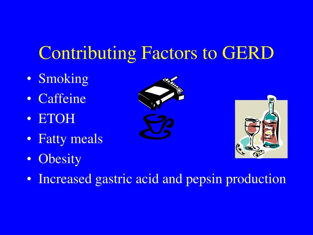 Contributing Factors to GERD