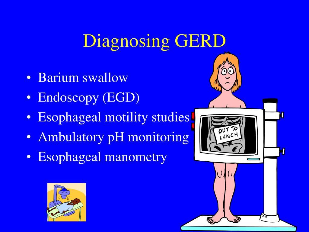 Diagnosing GERD
