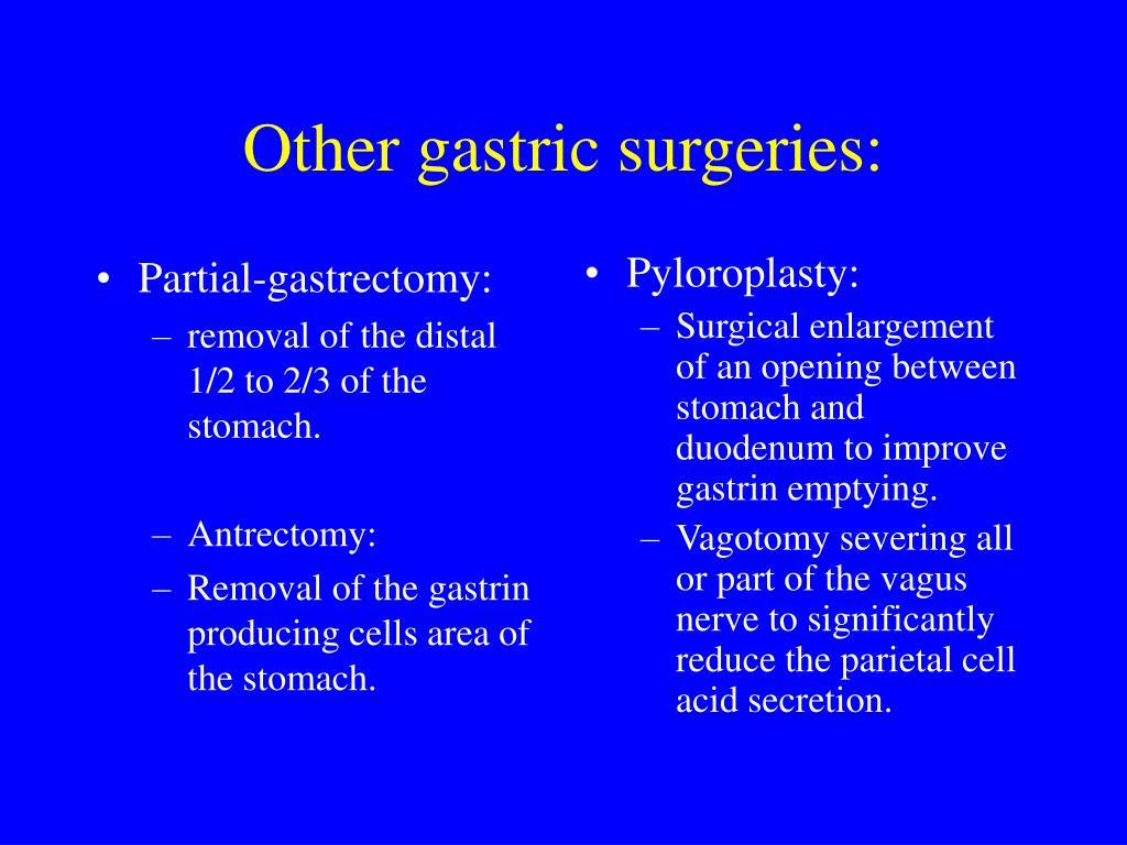 Partial-gastrectomy: