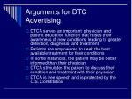 arguments for dtc advertising