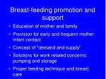 breast feeding promotion and support