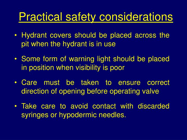 Practical safety considerations