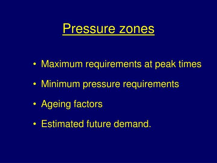 Pressure zones
