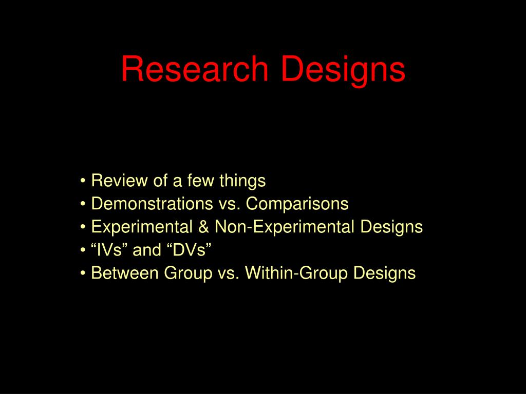 research designs l.