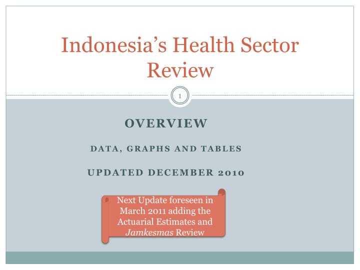 indonesia s health sector review n.