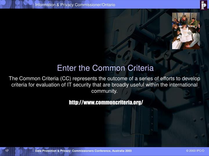Enter the Common Criteria