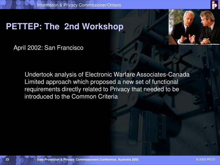 PETTEP: The  2nd Workshop