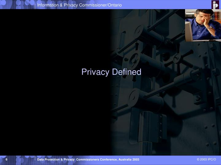 Privacy Defined