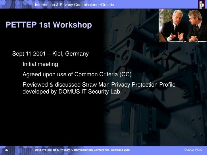 PETTEP 1st Workshop