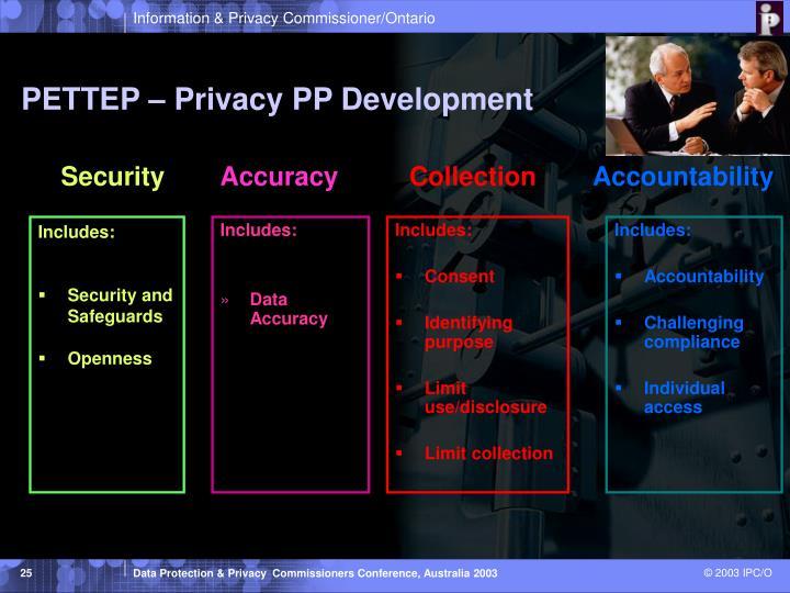PETTEP – Privacy PP Development