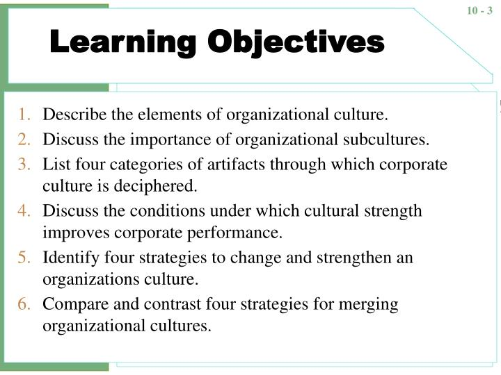Describe The Elements Of Organizational Culture