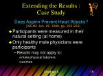 extending the results case study