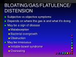 bloating gas flatulence distension