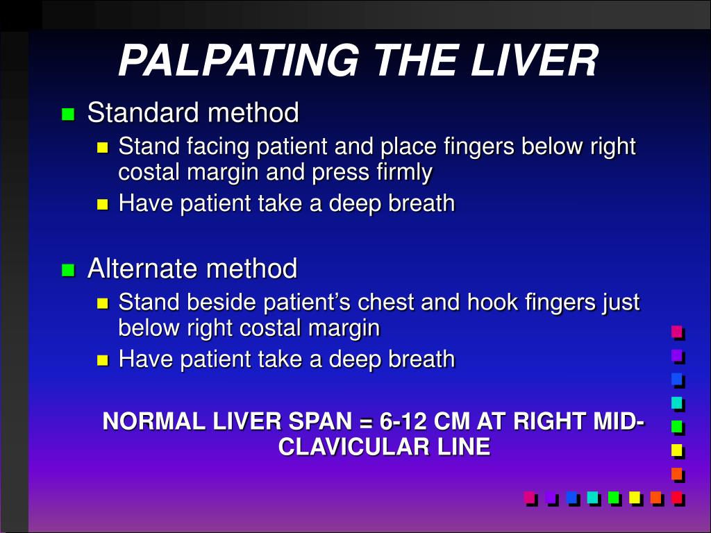 PALPATING THE LIVER