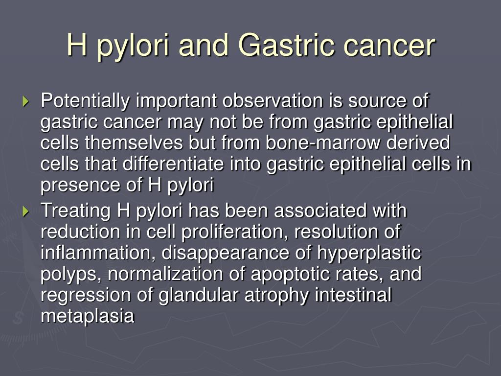 H pylori and Gastric cancer