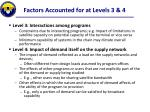 factors accounted for at levels 3 4