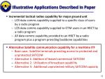 illustrative applications described in paper