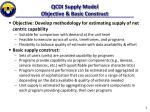 qcdi supply model objective basic construct