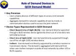 role of demand devices in qcdi demand model