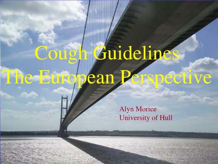 Cough Guidelines