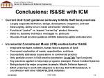 conclusions is se with icm