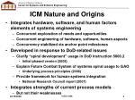 icm nature and origins
